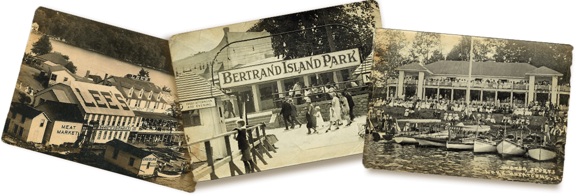Antique images of Bertrands Island and Lake Hopatcong Sites